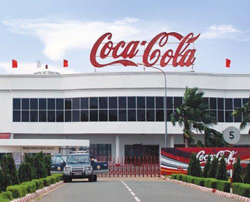 Nhà máy CoCa-Cola sử dụng máng lưới inox NQT
