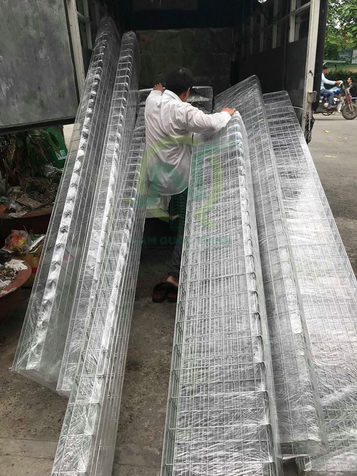 máng lưới inox 500x100