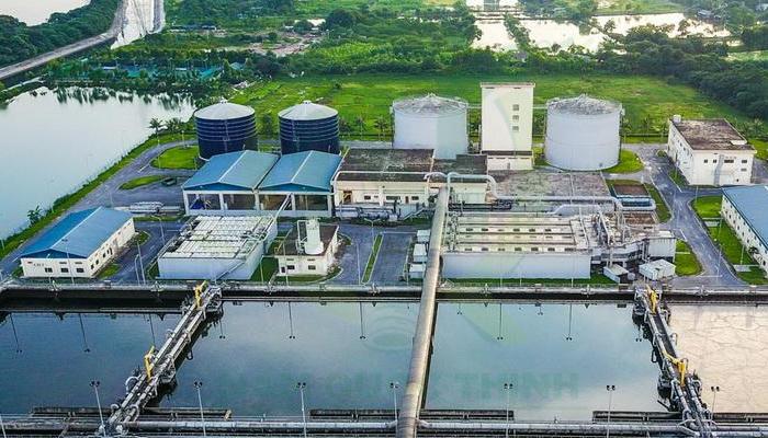 máng lưới inox NQT sử dụng trong nhà máy xử lí nước thải